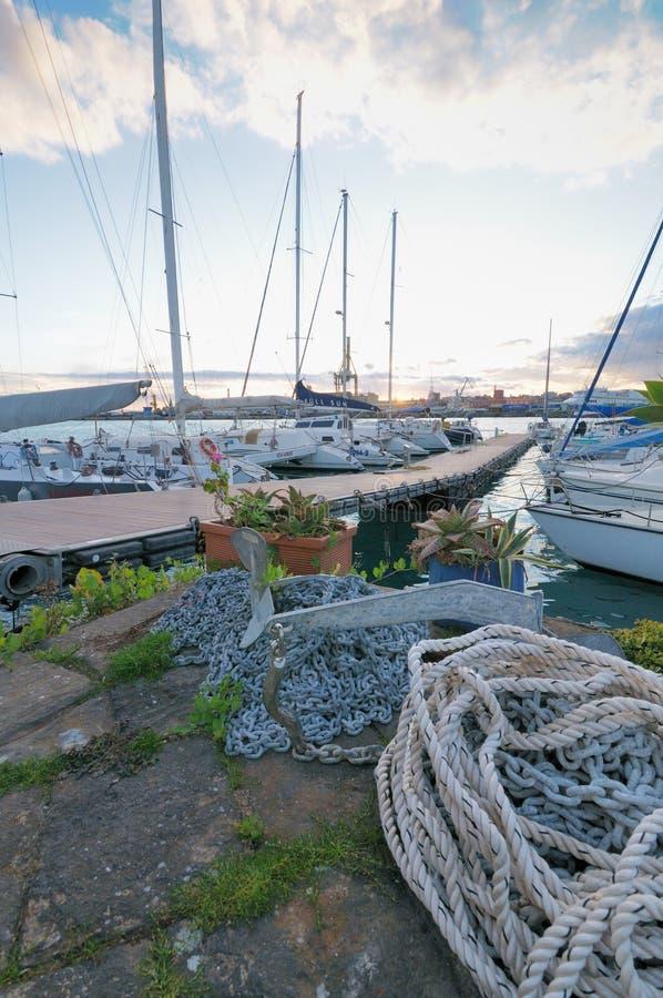 Circolo Nautico NIC Porto di Catania - Sicilia Itália Italia - terras comuns criativas pelo gnuckx imagem de stock