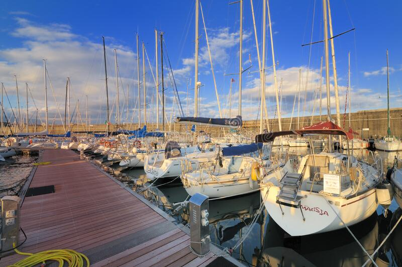 Circolo Nautico NIC Porto di Catania Sicilia Italy Italia - idérika allmänningar vid gnuckx arkivfoto