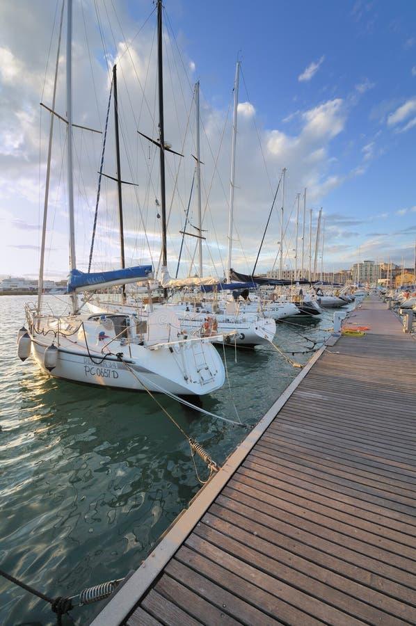 Circolo Nautico NIC Porto di Catania Sicilia Italy Italia - terras comuns criativas pelo gnuckx imagens de stock