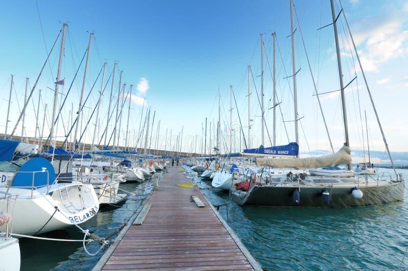 Circolo Nautico NIC Porto di Catania Sicilia Italy Italia - terras comuns criativas pelo gnuckx fotografia de stock royalty free