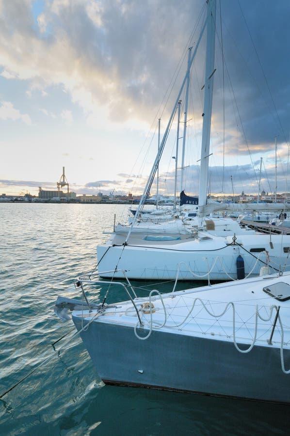 Circolo Nautico NIC Porto di Catania Sicilia Italy Italia - terras comuns criativas pelo gnuckx fotografia de stock