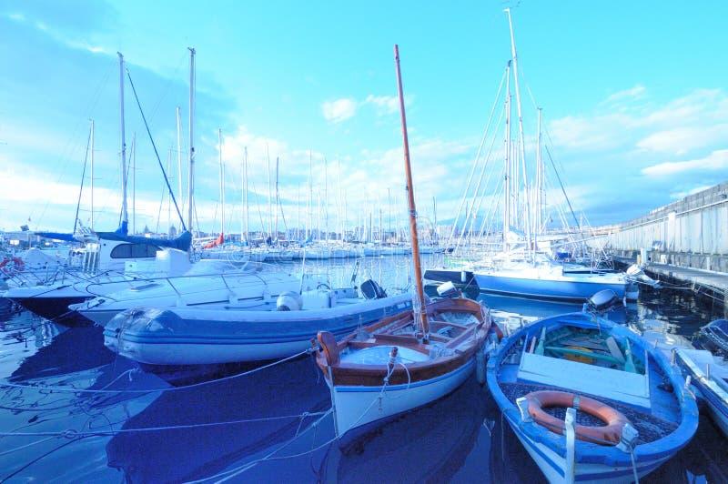 Circolo Nautico NIC Porto di Catania Sicilia Italy Italia - terreni comunali creativi da gnuckx fotografia stock