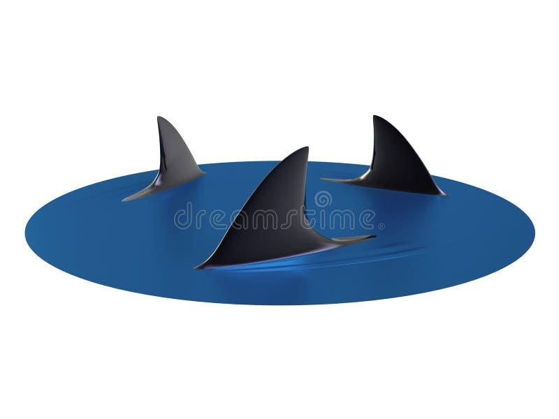Circonduzione degli squali illustrazione vettoriale