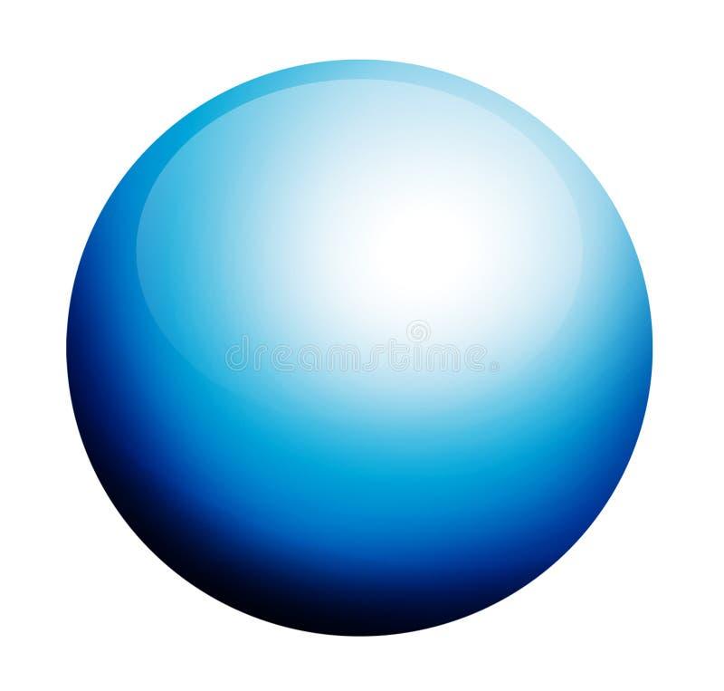 Circonferenza blu illustrazione vettoriale