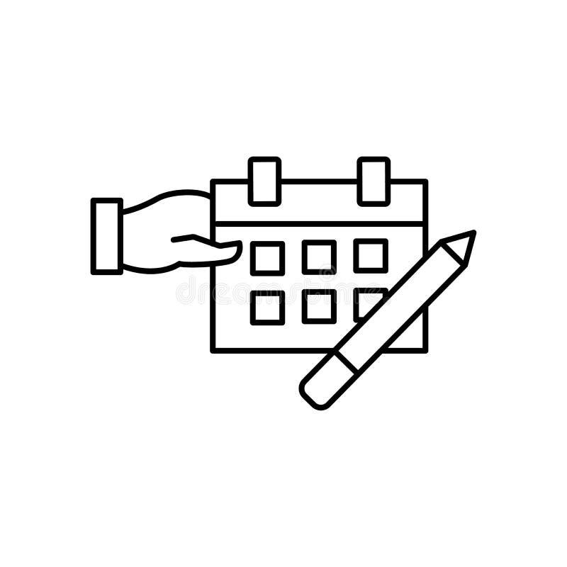 Circostanza, calendario, icona del dito Elemento dell'icona di affari royalty illustrazione gratis