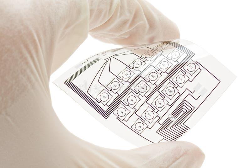 Circuit électrique estampé flexible images libres de droits