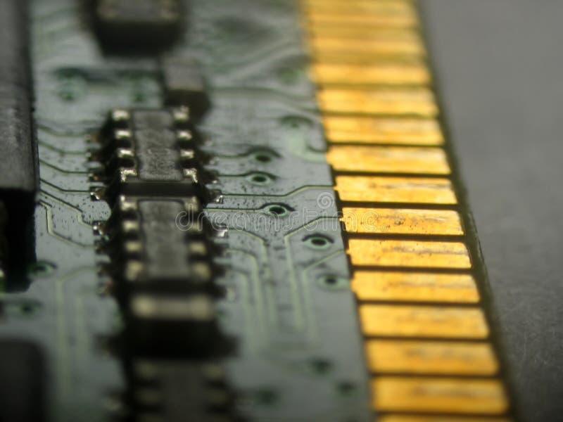 Circuit électronique de mémoire de mémoire vive photos stock