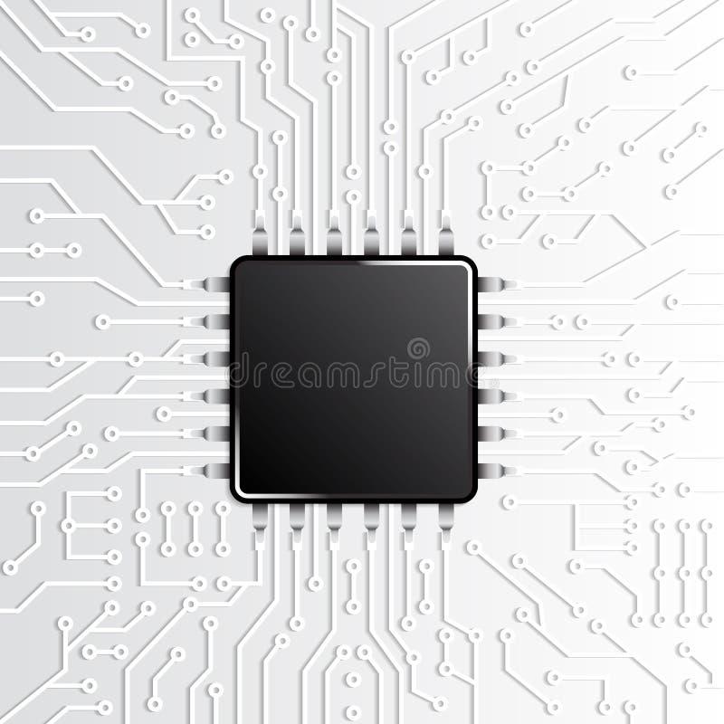 Circuit électronique de technologie de puce illustration de vecteur