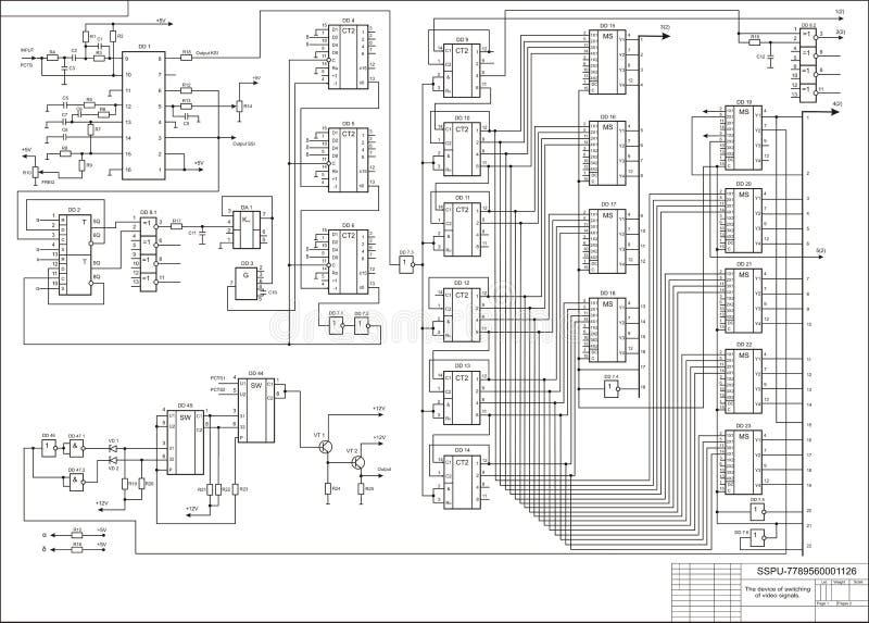 Circuit illustration stock
