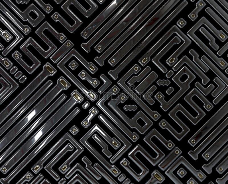 Circuit abstrait à l'intérieur de puce illustration libre de droits
