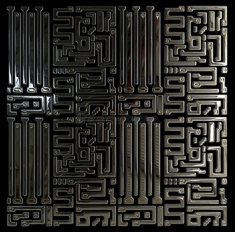 Circuit abstrait à l'intérieur de puce illustration stock
