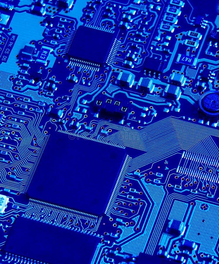 Circuit bleu image stock