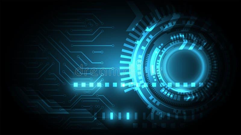 Circuit bleu sur le fond de cyberespace, backgr abstrait de technologie illustration libre de droits