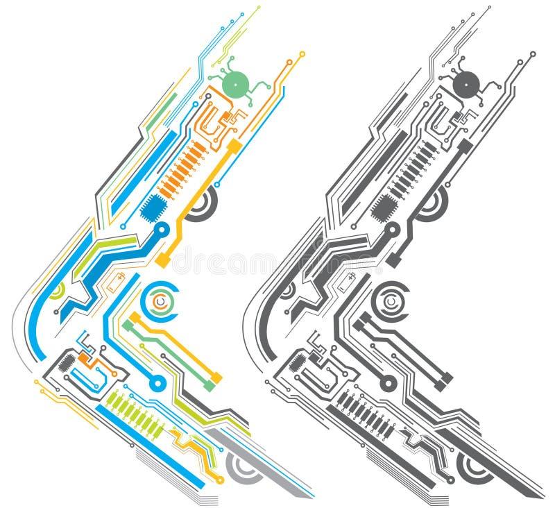 Circuit board royalty free illustration