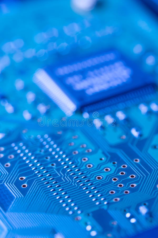 Circuit board. Computer circuit board for technology background. Shot with shallow depth of field