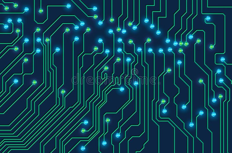 Circuit board royalty free illustration