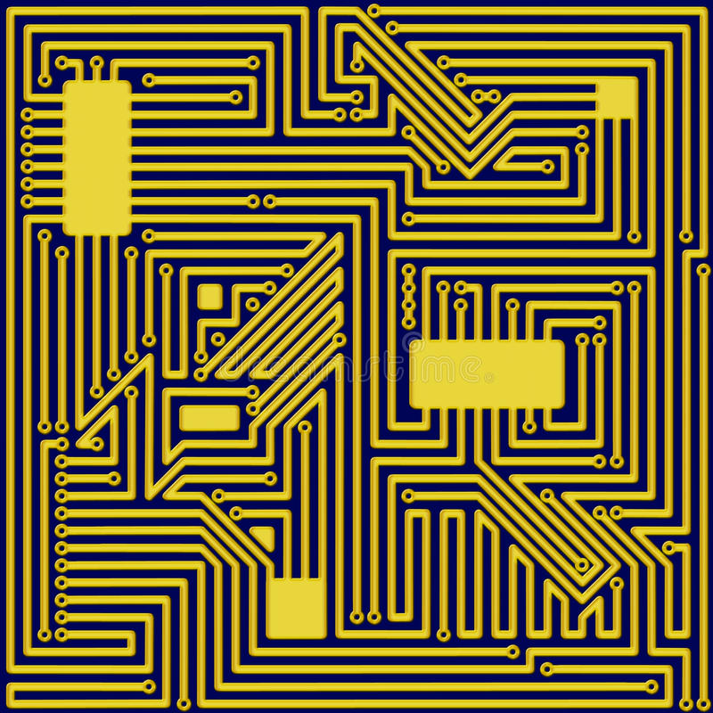 Download Circuit Board stock illustration. Image of computer, microchip - 22970722