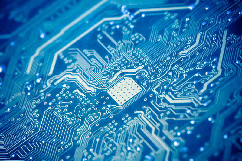 Download Circuit board stock photo. Image of abstract, blue, closeup - 23082822