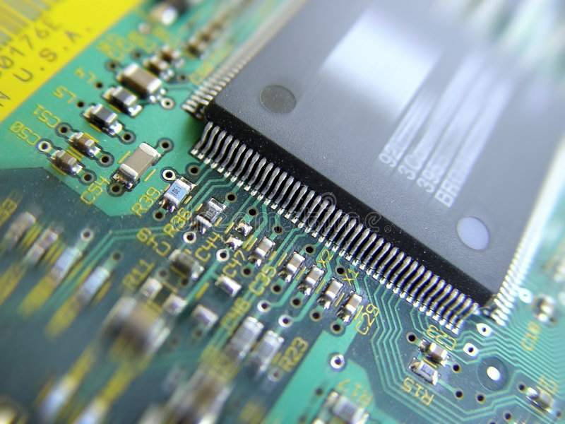 Circuit board. Electronic circuit board royalty free stock images