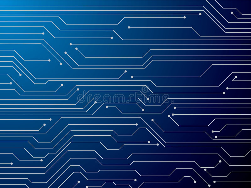 Circuit board. Illustration of a digital circuit board that is ideal as a background