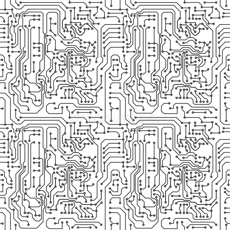 Circuit board vector illustration