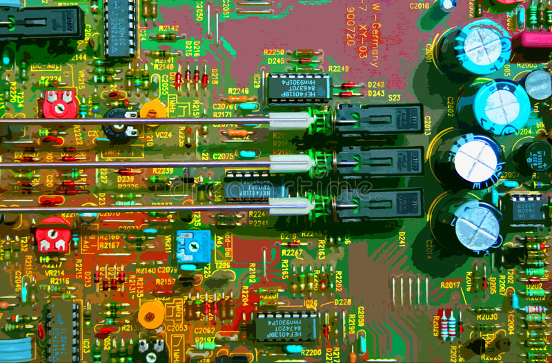 Download Circuit Board Royalty Free Stock Photo - Image: 521305
