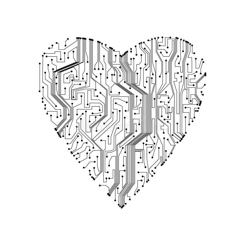 Circuit board background vector illustration