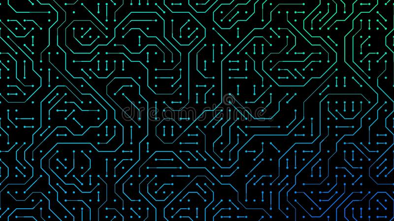 Circuit board background simple illustration, computer microchip nano technology vector illustration