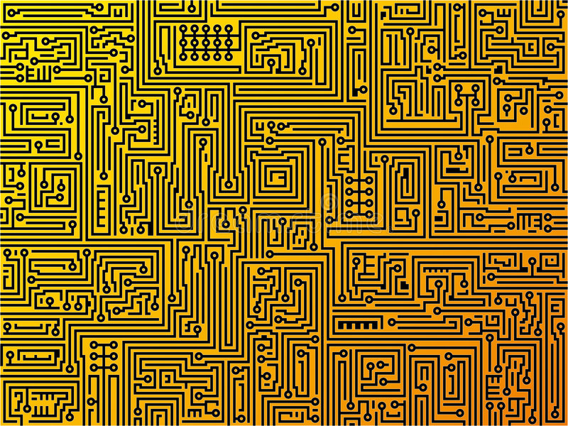 Circuit board background. Vector. royalty free illustration