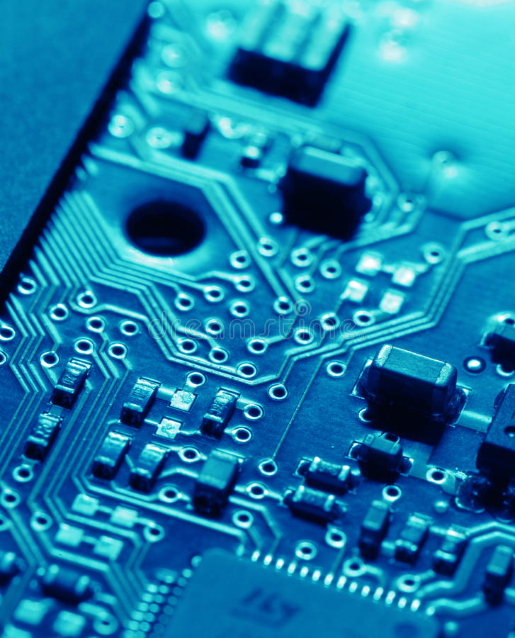 Circuit board. Close up of an electronic circuit board stock images