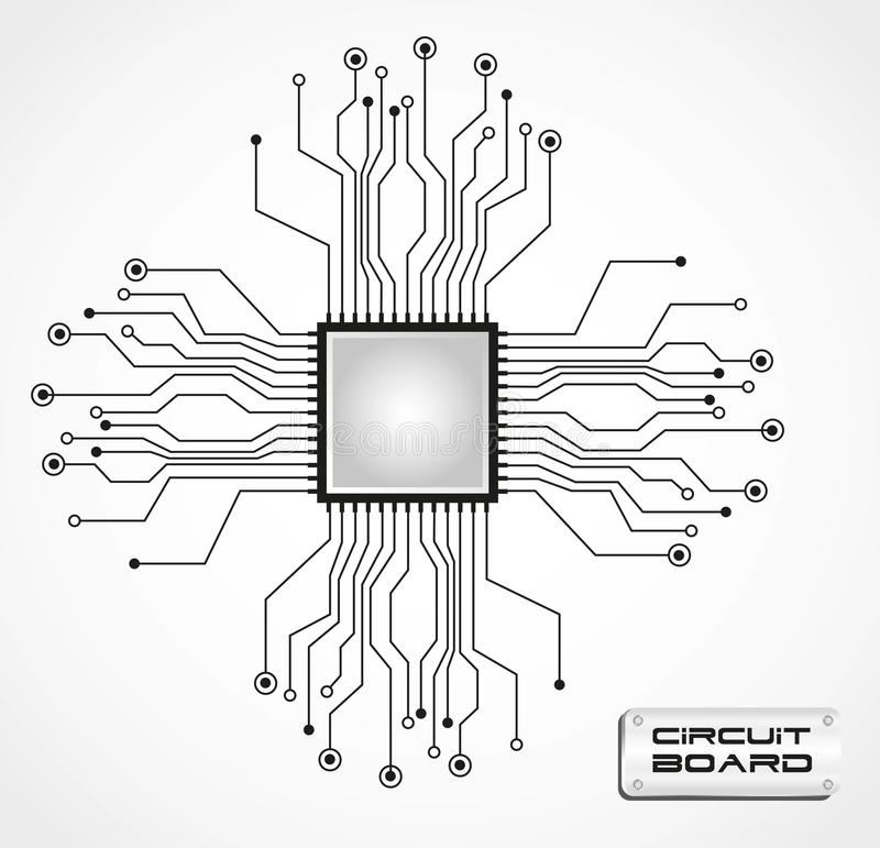 Circuit board cpu vector illustration