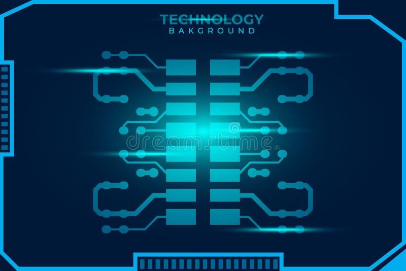 Circuit board design background. Vector illustration eps 10. royalty free illustration
