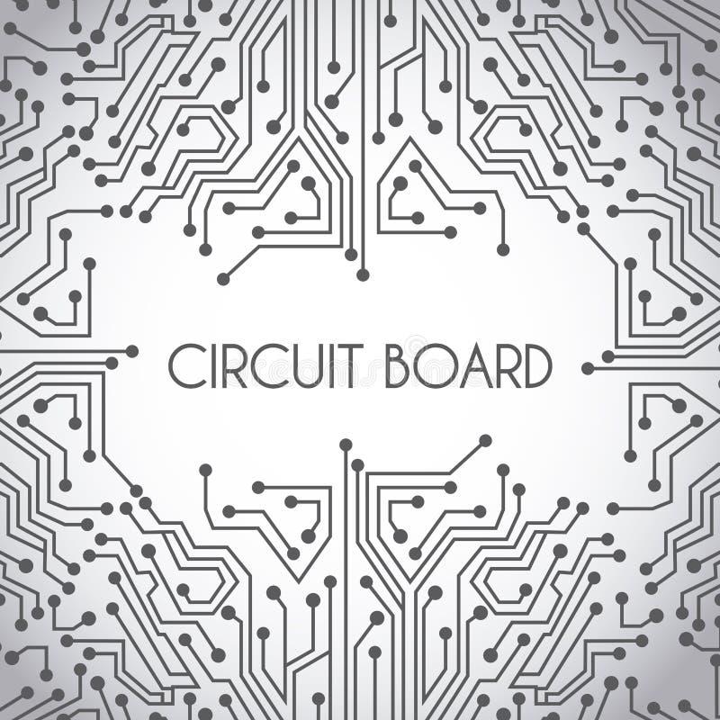 Circuit board design stock vector. Illustration of microprocessor ...