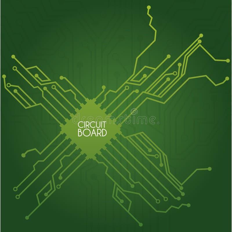 Circuit board design stock vector. Illustration of electrode - 31191115