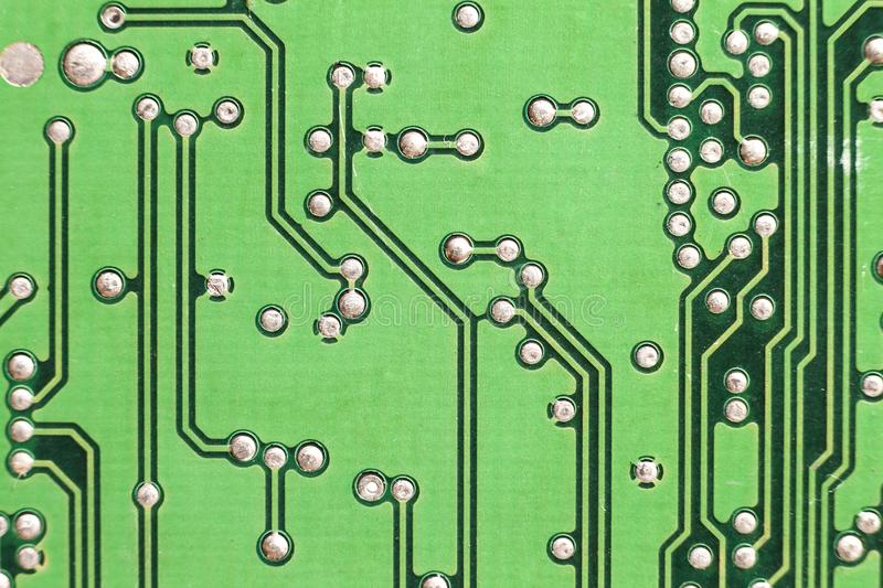 Circuit board. Electronic computer hardware technology. Motherboard digital chip. Tech science background. Integrated royalty free stock photography