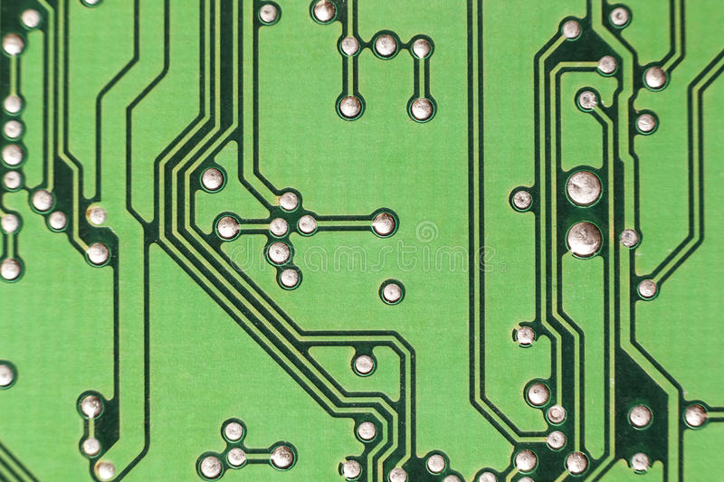 Circuit board. Electronic computer hardware technology. Motherboard digital chip. Tech science background. Integrated royalty free stock photo
