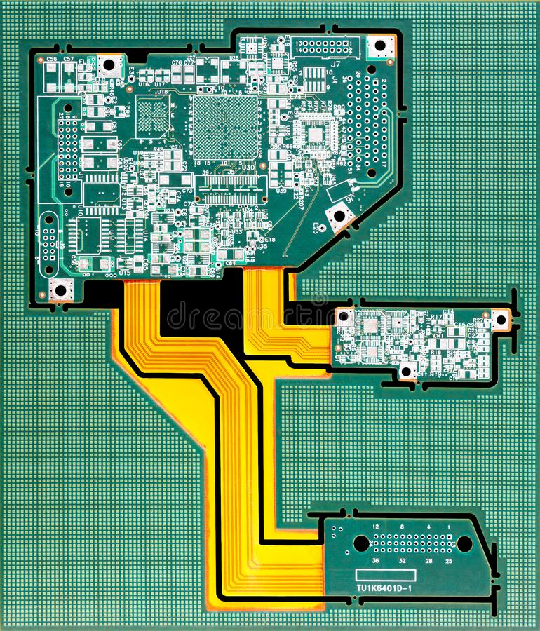 Circuit board. Electronic computer hardware technology. Motherboard digital chip. Tech science background. Integrated communicatio royalty free stock photo