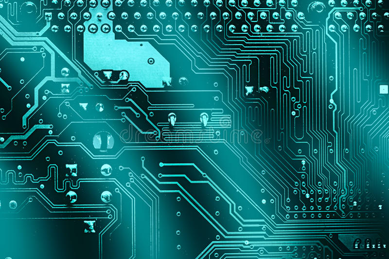 Circuit board. Electronic computer hardware technology. Motherboard digital chip. Tech science background. Integrated communication processor. Information royalty free stock photography