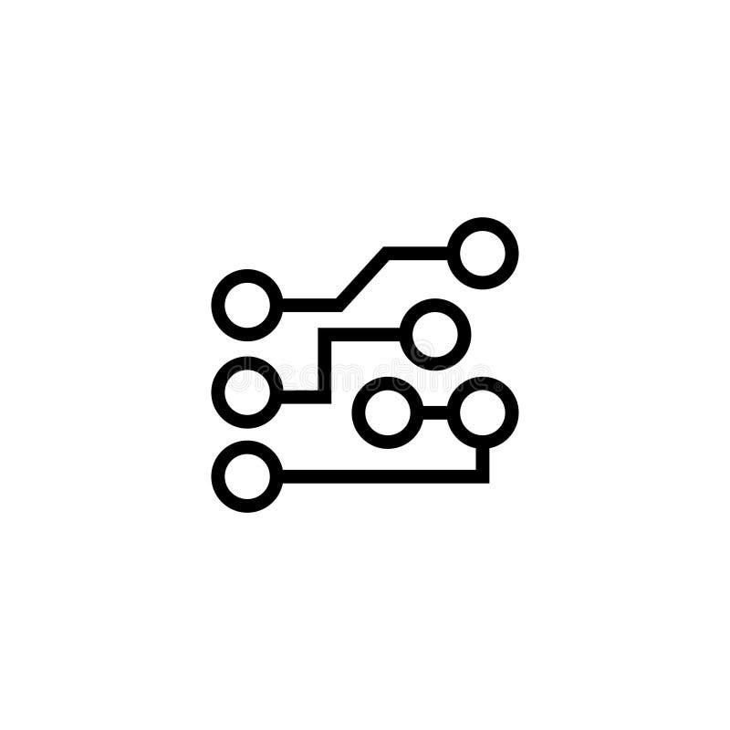 Circuit Board Flat Vector Icon Stock Vector - Illustration of ...