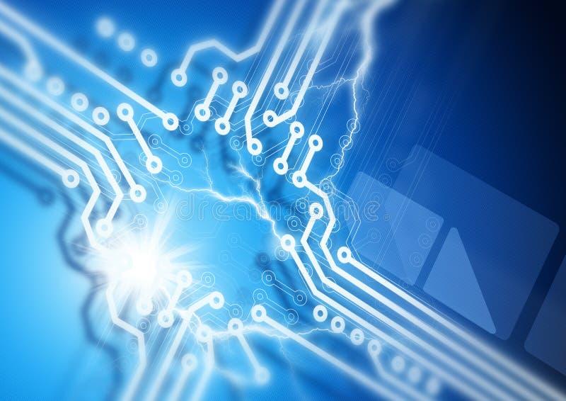 Circuit Board Fusion Stock Image