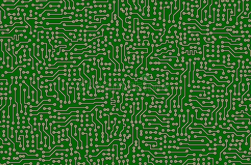 Download Circuit Board Green Abstract Texture Stock Illustration - Image: 15203026