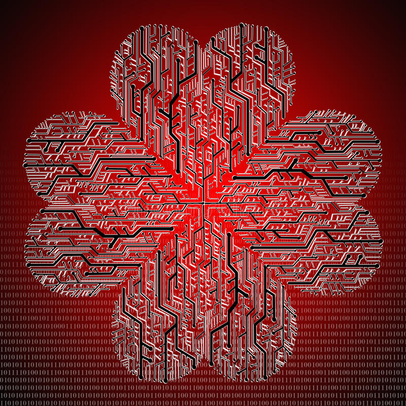 Download Circuit Board In Heart Shape Stock Illustration - Illustration of communication, concept: 22578403