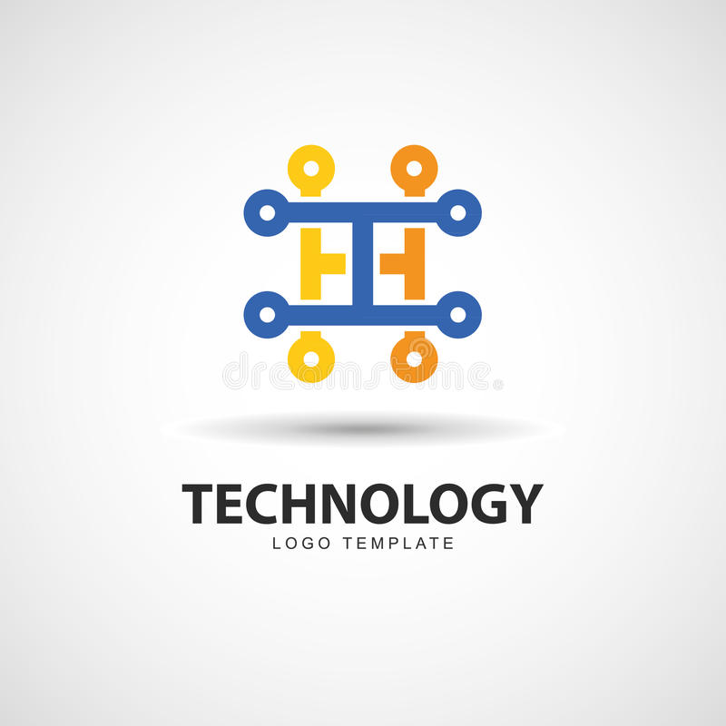 Circuit board logo stock vector. Illustration of illustration - 98291314