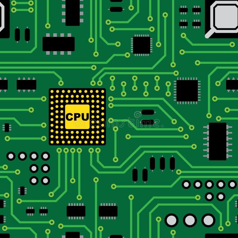 Circuit board pattern royalty free illustration
