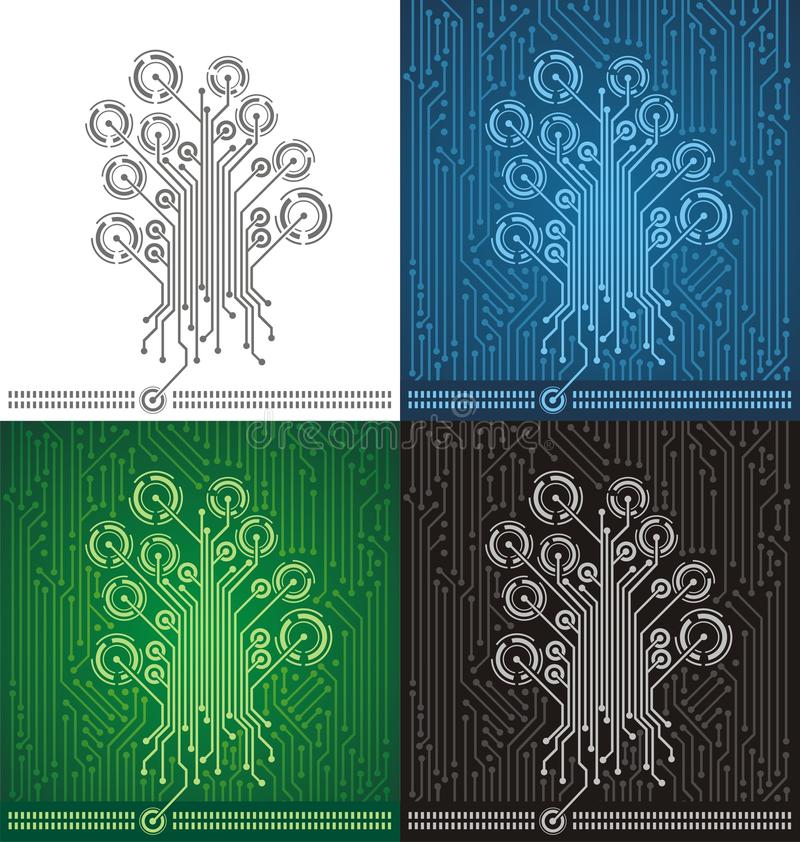 Download Circuit Board Tree Background Stock Photo - Image: 27475420