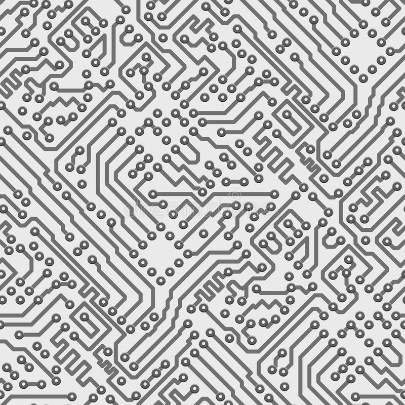 Free Circuit Board Vector Computer Seamless Pattern Stock Photography - 29487352