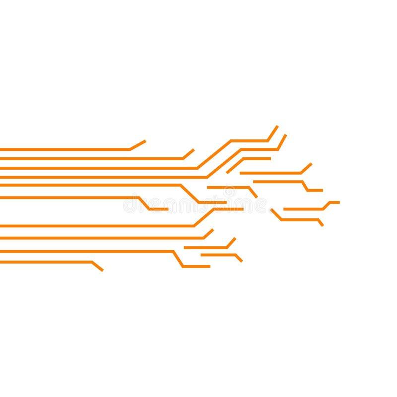 Circuit Board Vector Template Design Illustration stock illustration