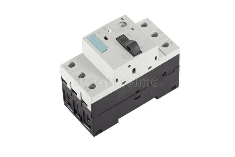 Circuit breaker. Electrical circuit breaker rail mount royalty free stock image