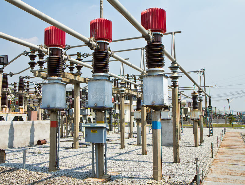 Circuit breaker high voltage stock images
