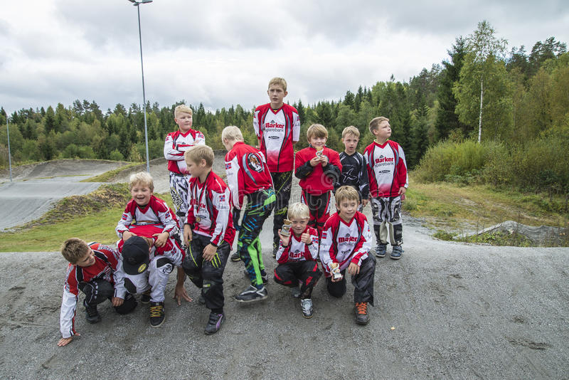 Download Circuit Championship In Bmx Cycling, Aremark And Halden BMX Team Editorial Image - Image: 36048495